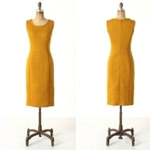 Anthropologie Tabitha Quilted Yellow Dress